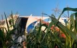 Аварийная посадка пассажирского самолета в поле