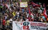 Акция протеста во Франции против проведения саммита G7