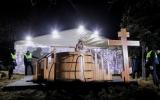 Крещенские купания в Москве, в саду им.Баумана